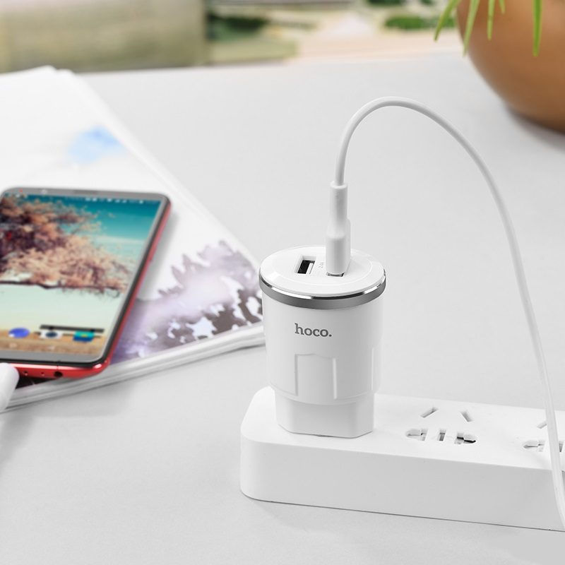 c38a thunder power dual usb port eu charger charging