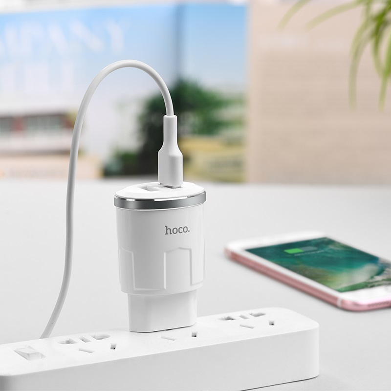 c38a thunder power dual usb port eu charger mobile