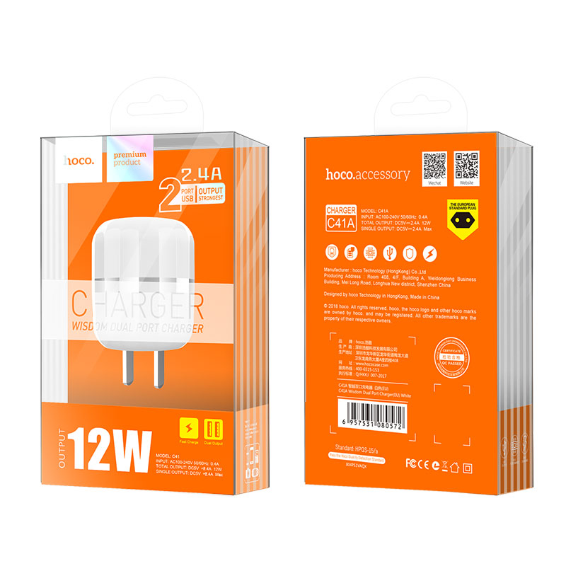 c41 wisdom dual port us charger package