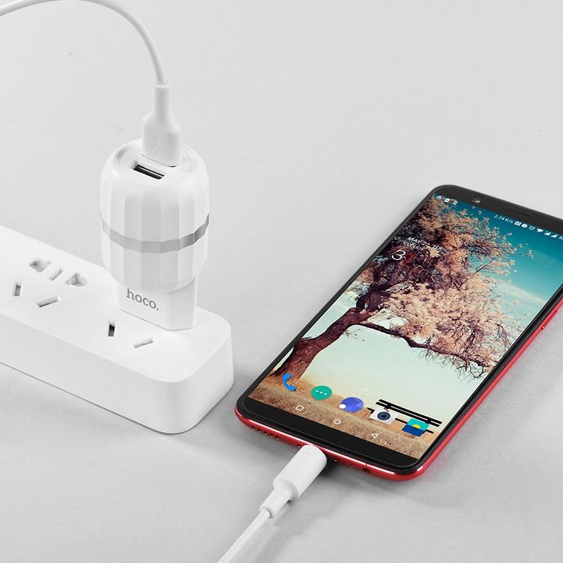 c41a wisdom dual usb port eu charger charging
