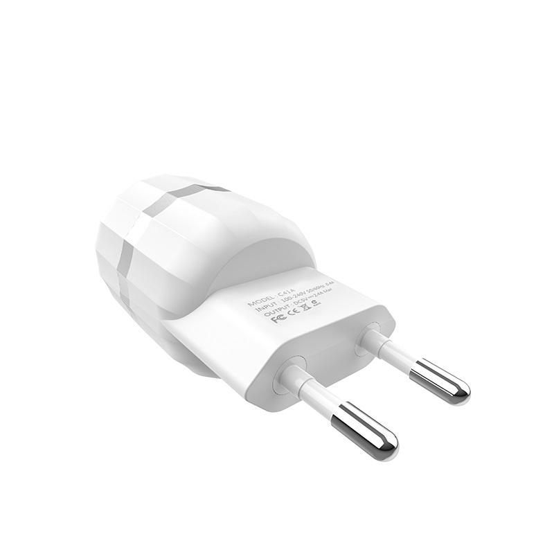 c41a wisdom dual usb port eu charger plug