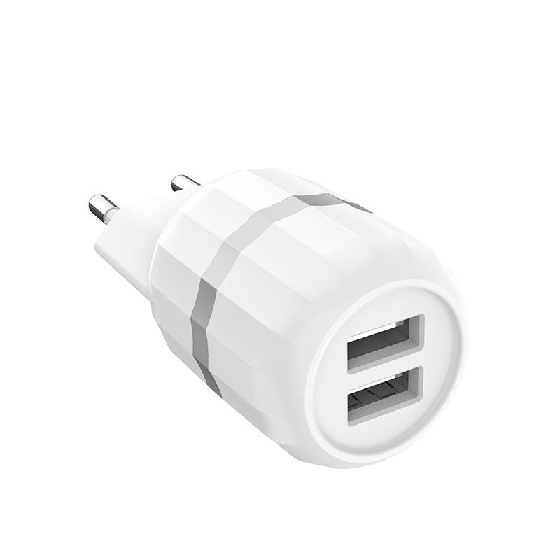 c41a wisdom dual usb port eu charger shell