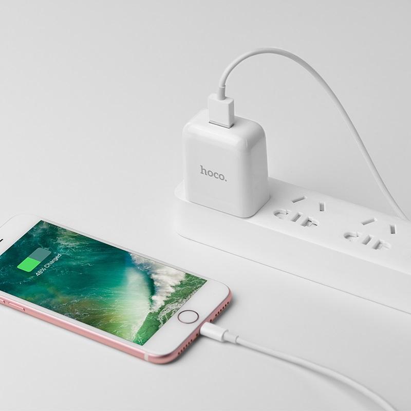 c49 cool treasure single port charger set with lightning kit