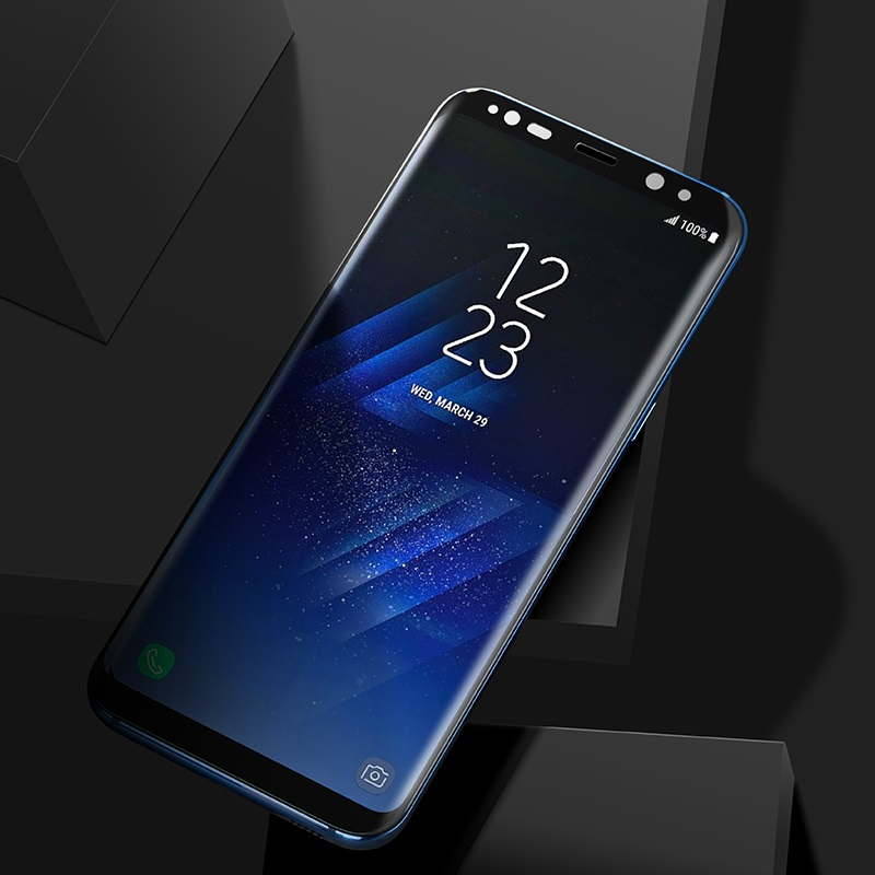 curved full screen protection tempered glass galaxy s8 s8 plus installed