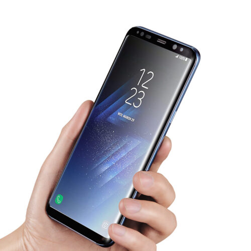 full high transparent tempered glass galaxy s9 plus in hand