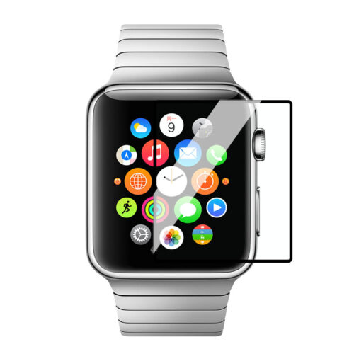 full rim tempered glass screen protector apple watch cover