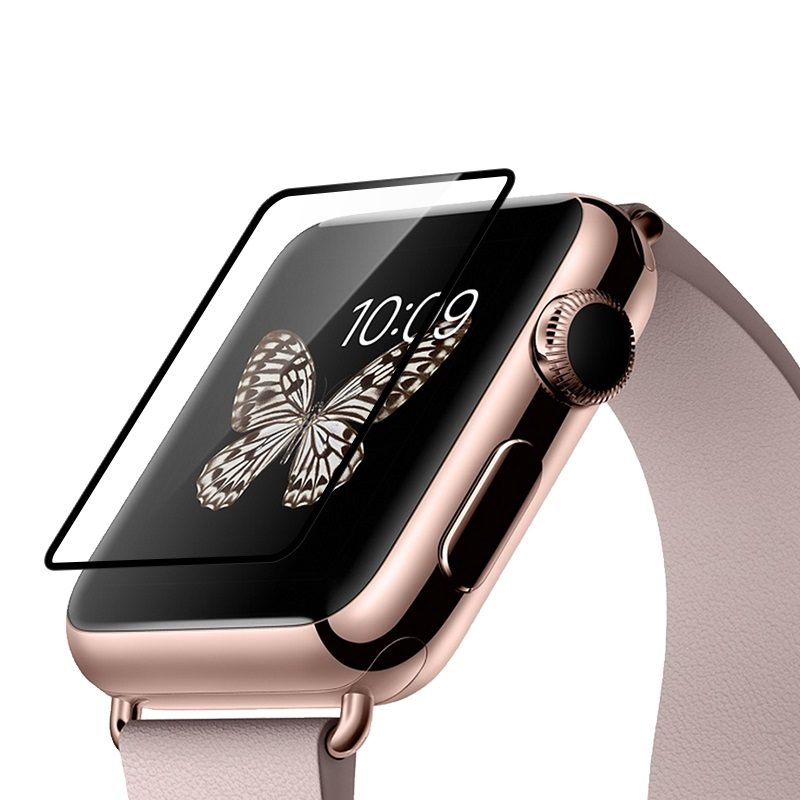 full rim tempered glass screen protector apple watch edges
