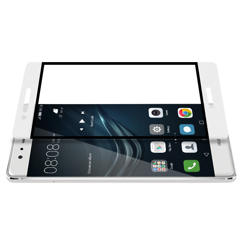 ghost series full screen toughened glass film huawei p9 white holes