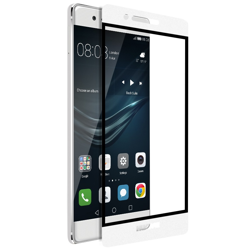 ghost series full screen toughened glass film huawei p9 white phone