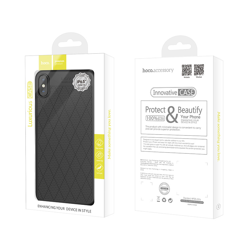 hoco admire series protective case for iphone 5.8 6.1 6.5 package