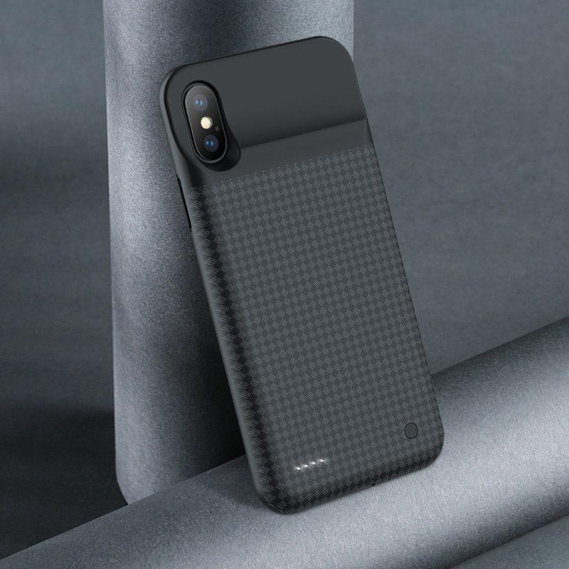 hoco bw6b wayfarer 3500 mah power bank case for iphone x camera