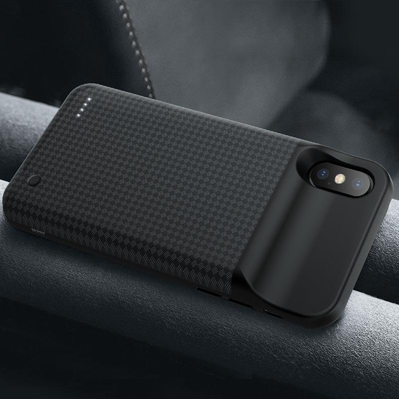 hoco bw6b wayfarer 3500 mah power bank case for iphone x interior