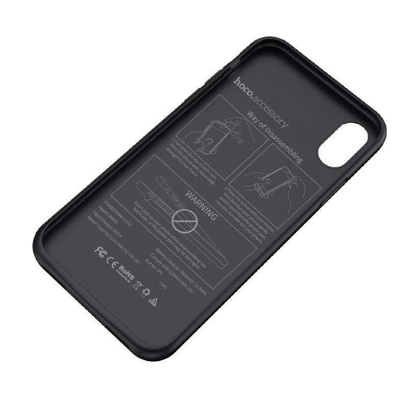 hoco bw6b wayfarer 3500 mah power bank case for iphone x layer