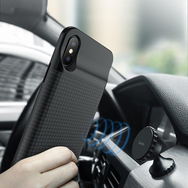 hoco bw6b wayfarer 3500 mah power bank case for iphone x magnet