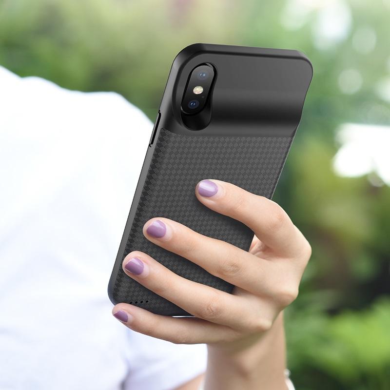 hoco bw6b wayfarer 3500 mah power bank case for iphone x overview