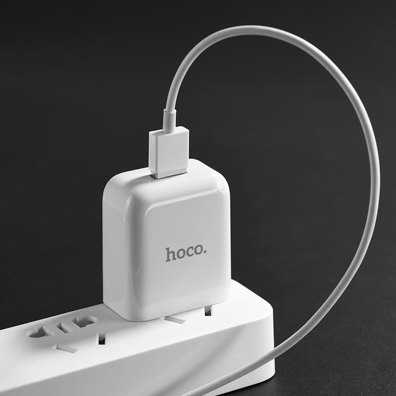 hoco c49 cool treasure single port charger set for type c charging
