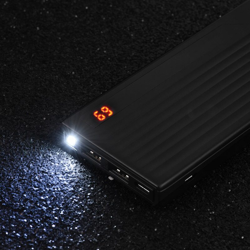 hoco j27 power treasure 10000 mah mobile power bank flashlight