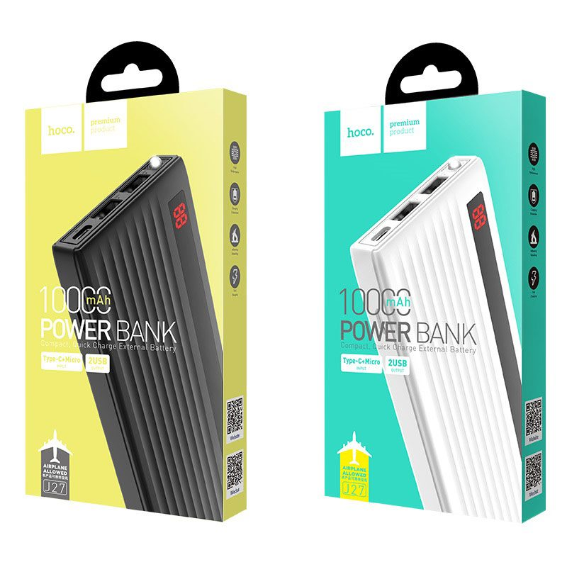 hoco j27 power treasure 10000 mah mobile power bank package