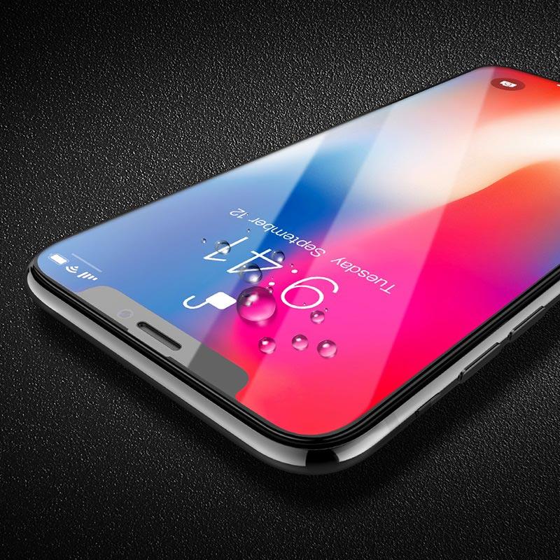 浩酷 防碎边全屏高清钢化膜 a1 iphone 5.8 6.1 6.5 保护