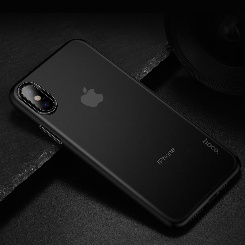 hoco thin series frosted case for iphone 6.5 6.1 5.8 interior black