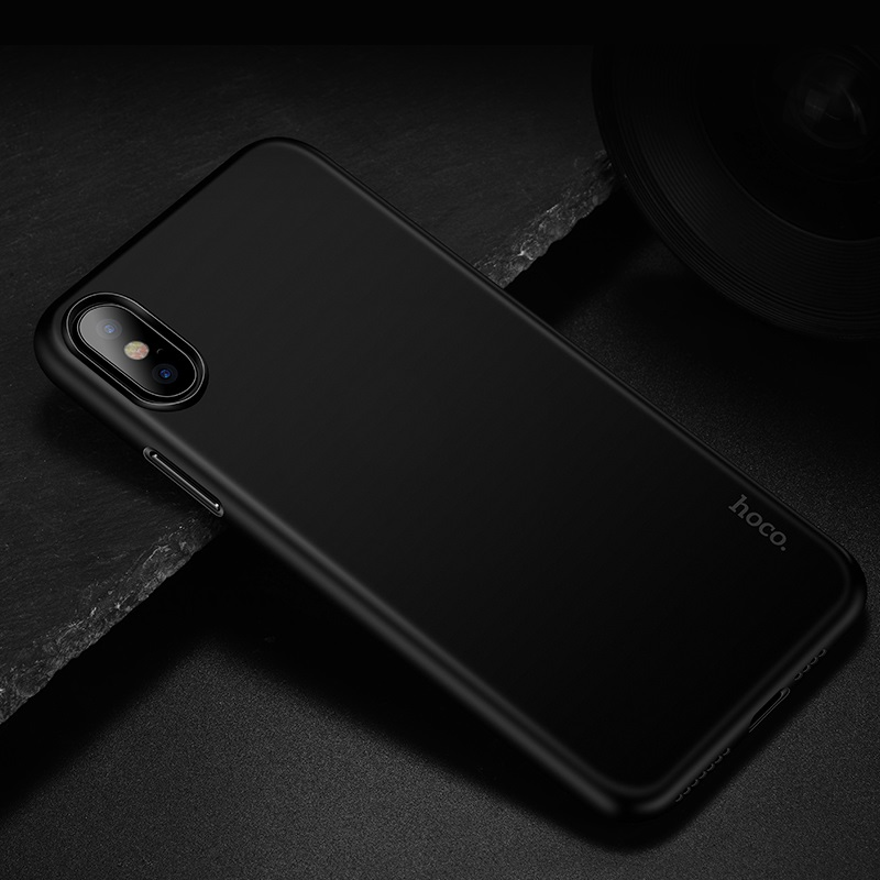 hoco thin series frosted case for iphone 6.5 6.1 5.8 interior jet black