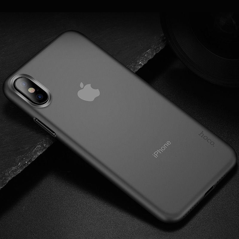 hoco thin series frosted case for iphone 6.5 6.1 5.8 interior transparent