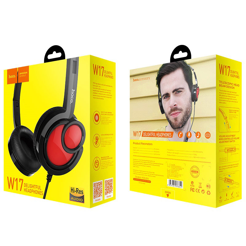 hoco w17 delightful headphones box