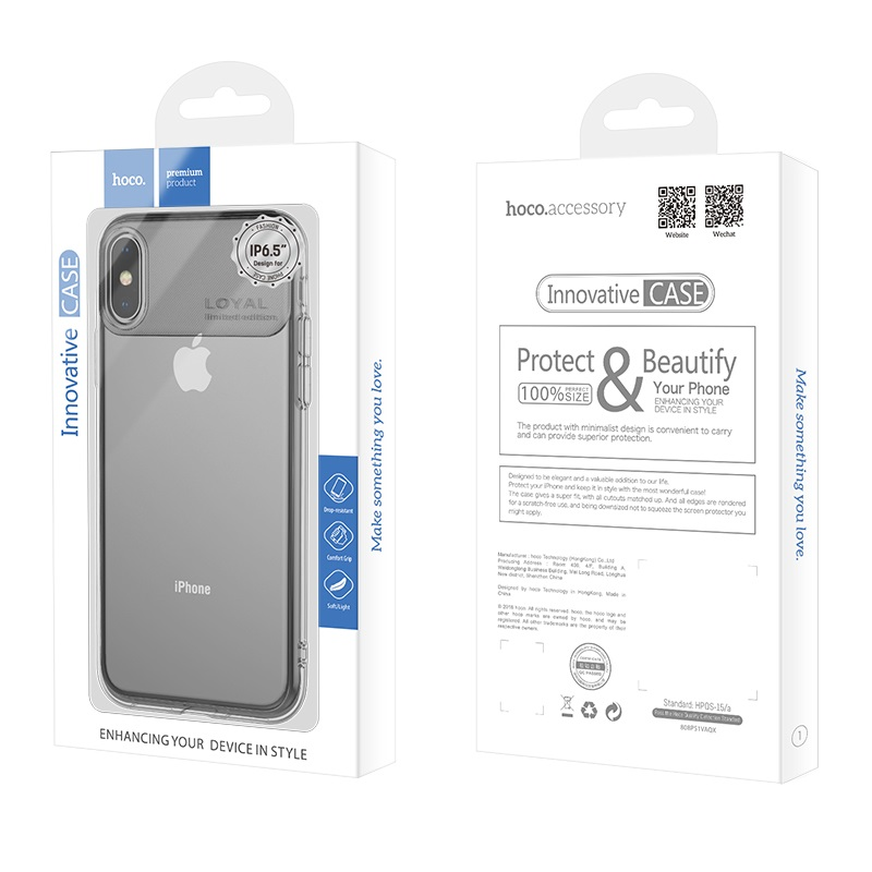 hoco water rhyme series protective case for iphone 5.8 6.1 6.5 box