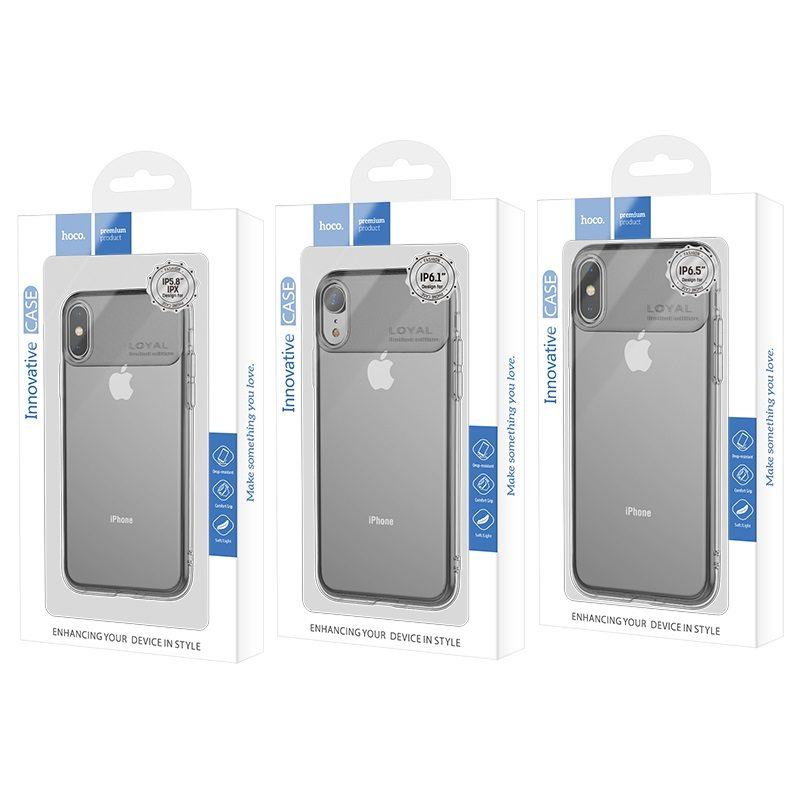 hoco water rhyme series protective case for iphone 5.8 6.1 6.5 package