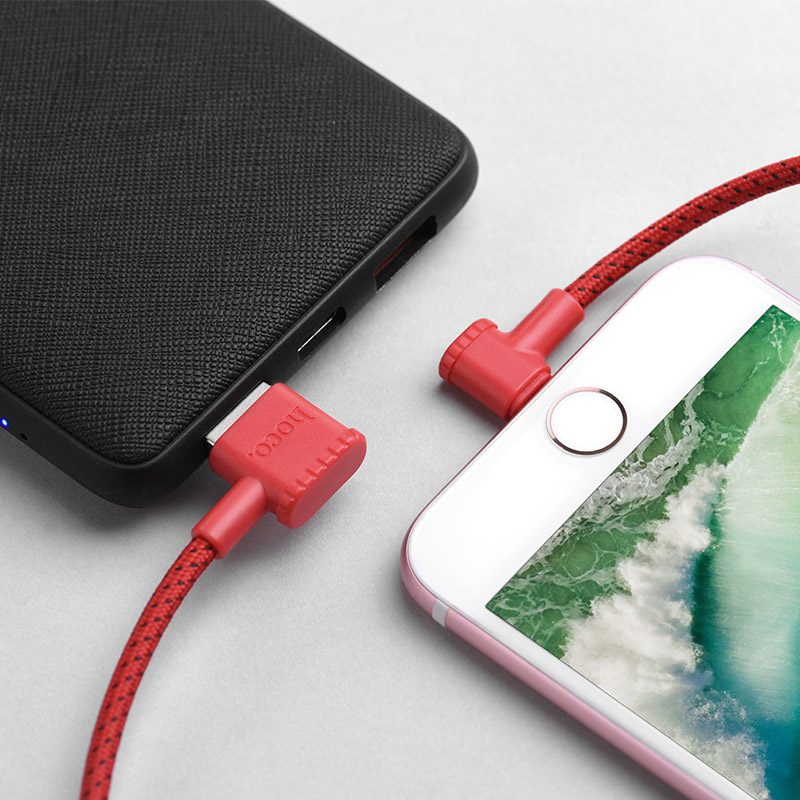 hoco x28 premium charging data cable lightning angled