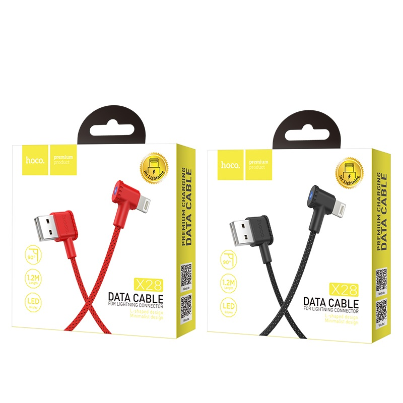 hoco x28 premium charging data cable lightning package