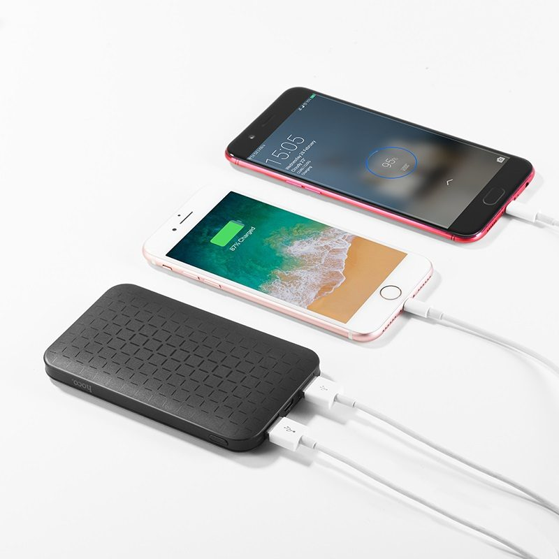 j29 cool square 5000 mobile power bank charging