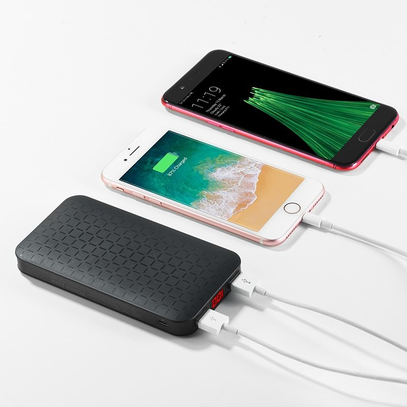 j29a cool square 10000 mobile power bank charging