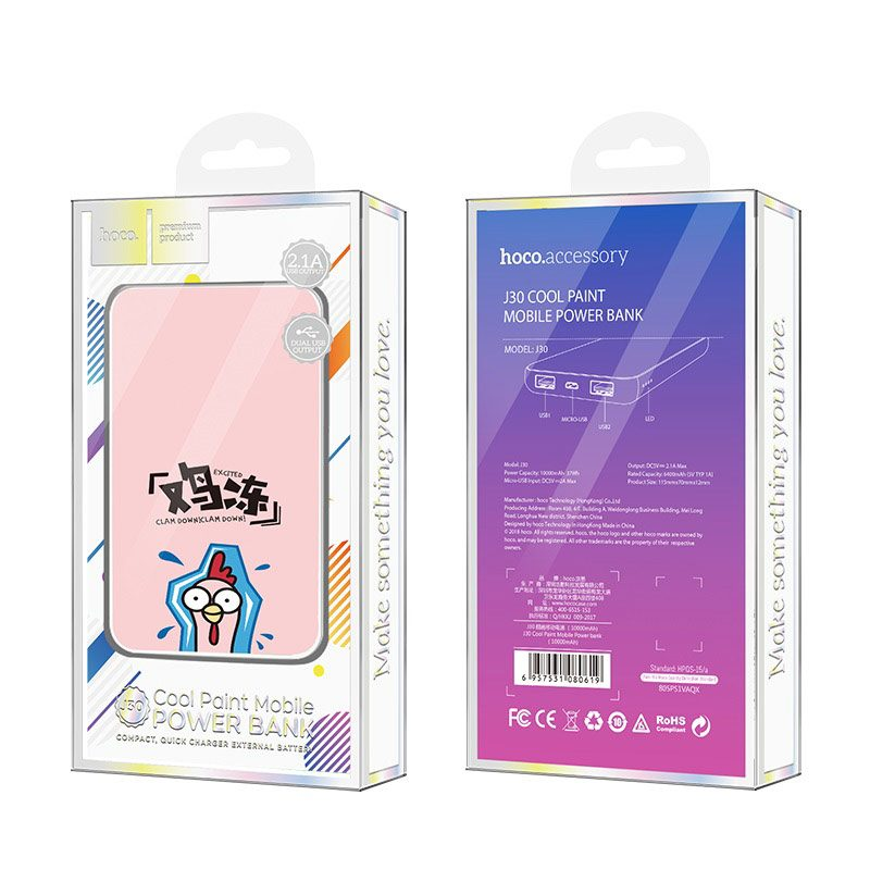 j30 cool paint 10000 mobile power bank package