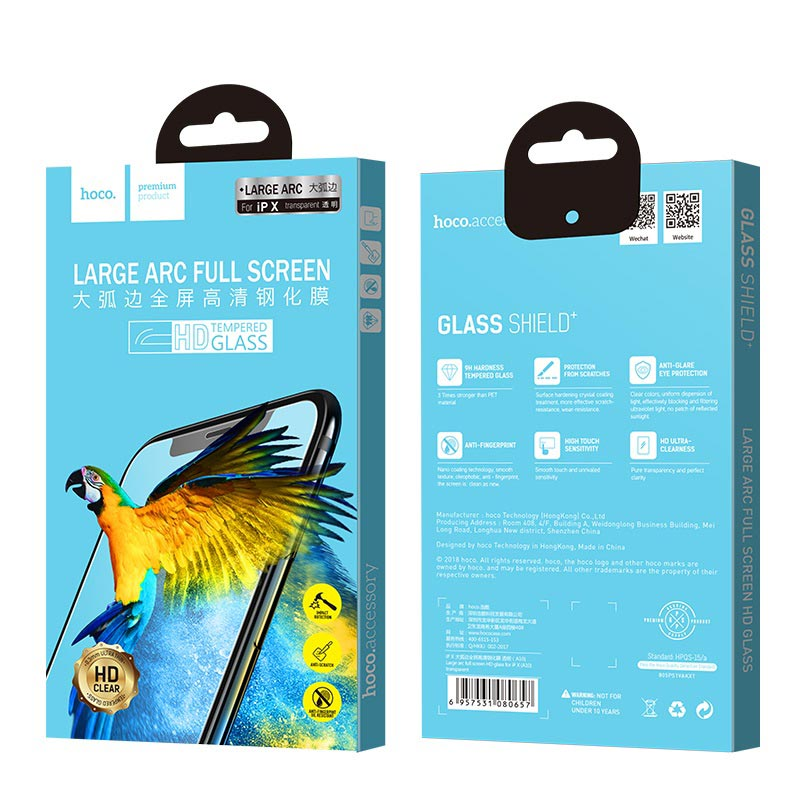 large arc full screen hd tempered glass a10 iphone x packages