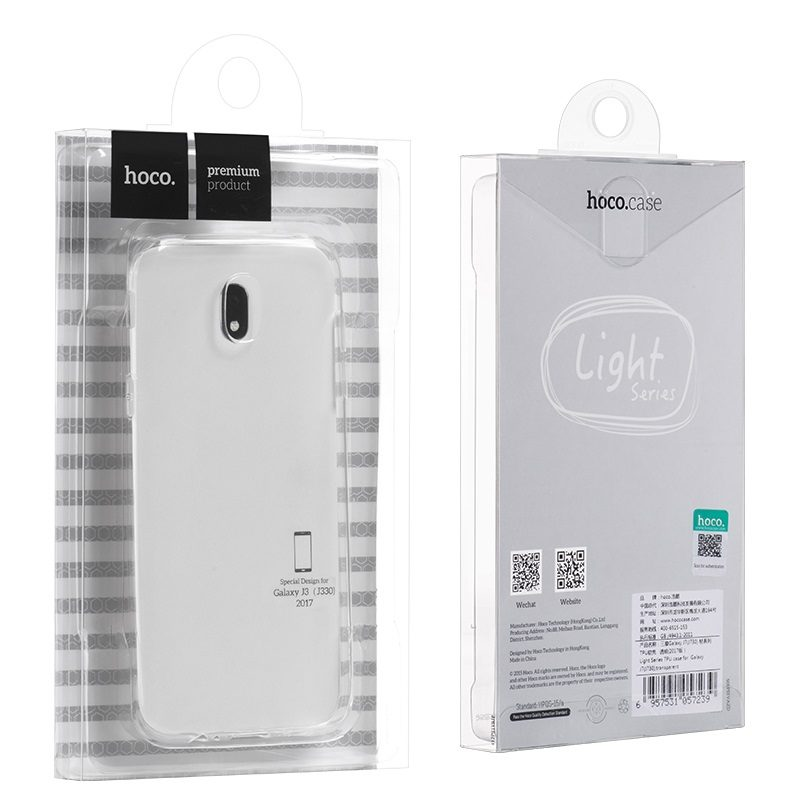 light series tpu protective case galaxy j3 package
