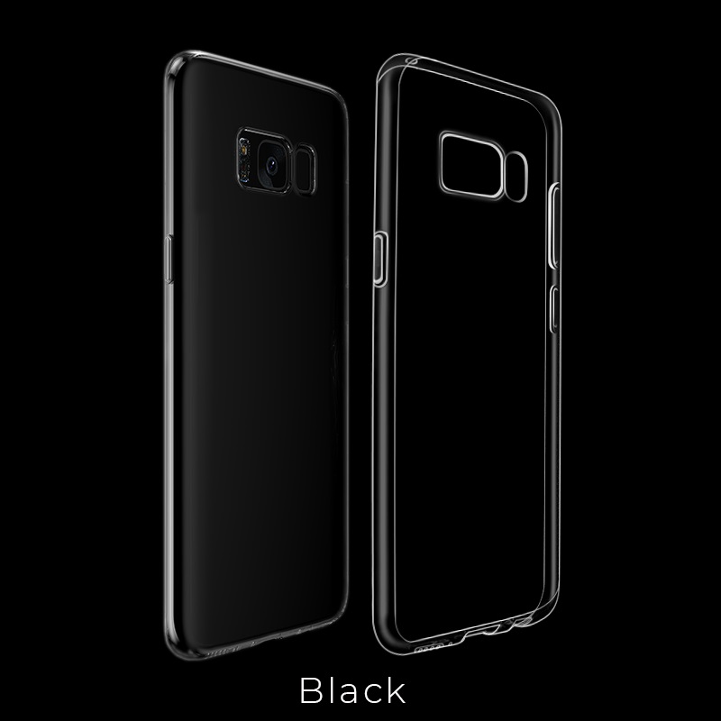 galaxy s8 light tpu case black