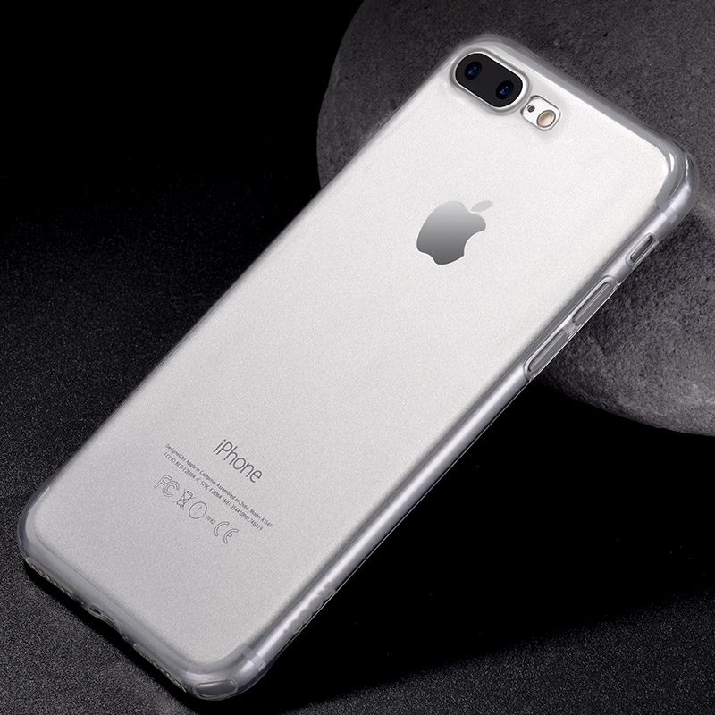 light series tpu protective case iphone 7 8 plus silver phone
