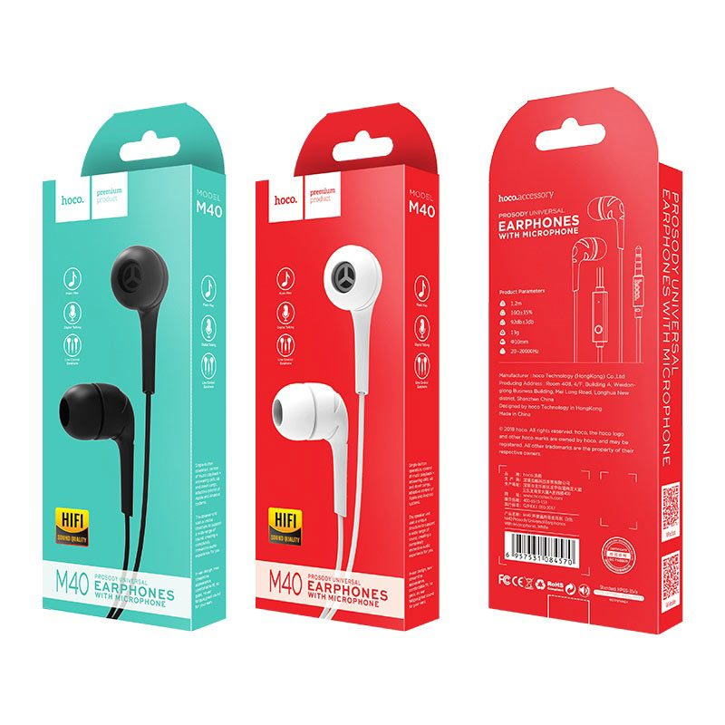 m40 prosody universal earphones with microphone package