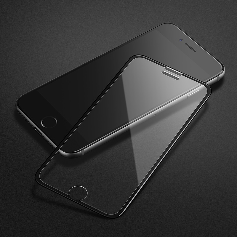 narrow edges 3d full screen hd tempered glass a11 iphone 6 6s plus black frame