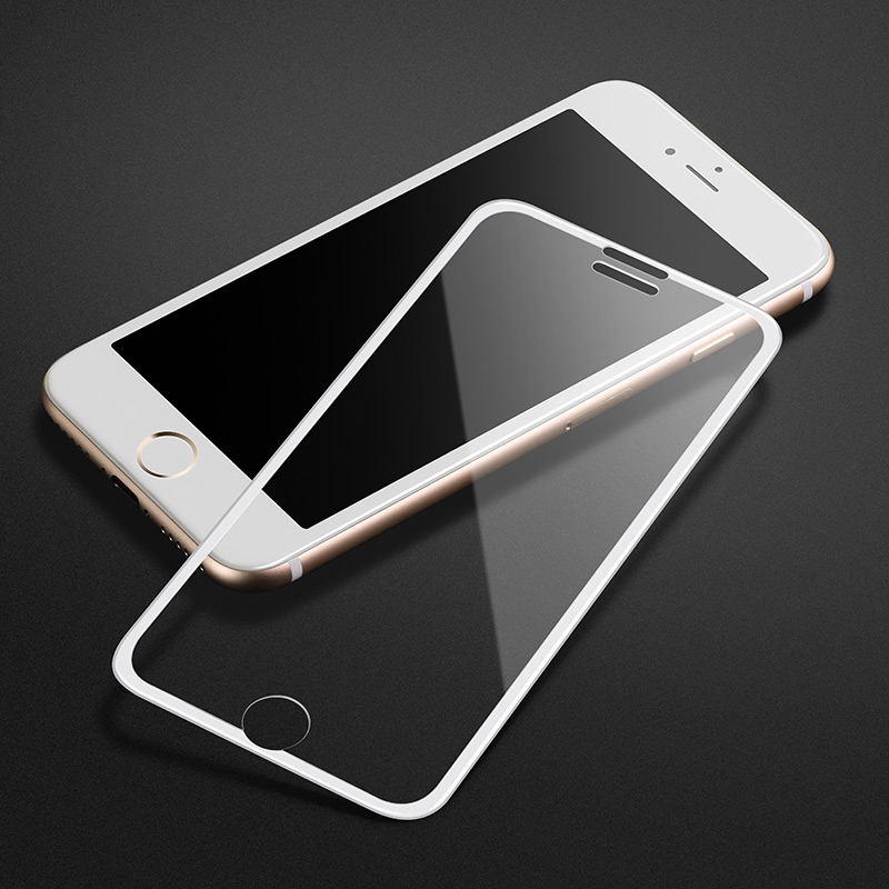 narrow edges 3d full screen hd tempered glass a11 iphone 6 6s plus white frame