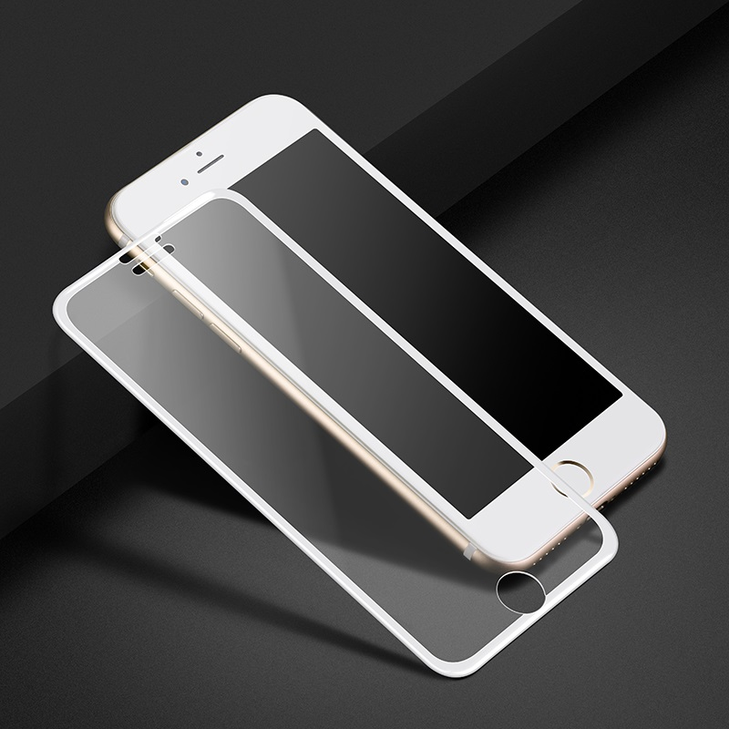 narrow edges 3d full screen hd tempered glass a11 iphone 6 6s plus white phone