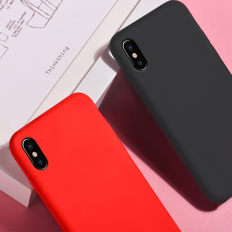 pure series protective case iphone 7 8 red black