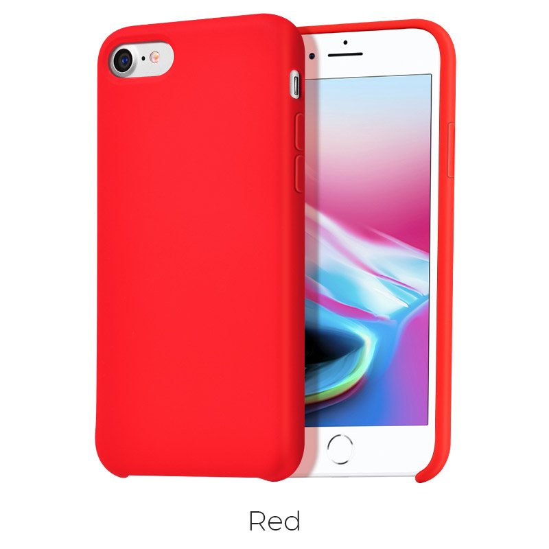 ip 7 8 pure case red