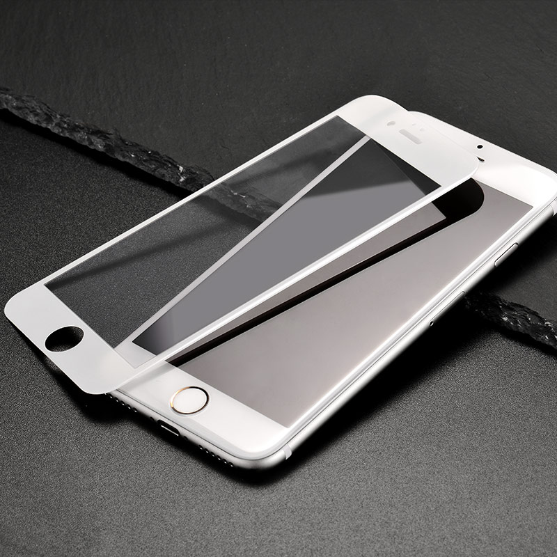 shatterproof edges full screen hd glass a1 iphone 6 6s plus white phone
