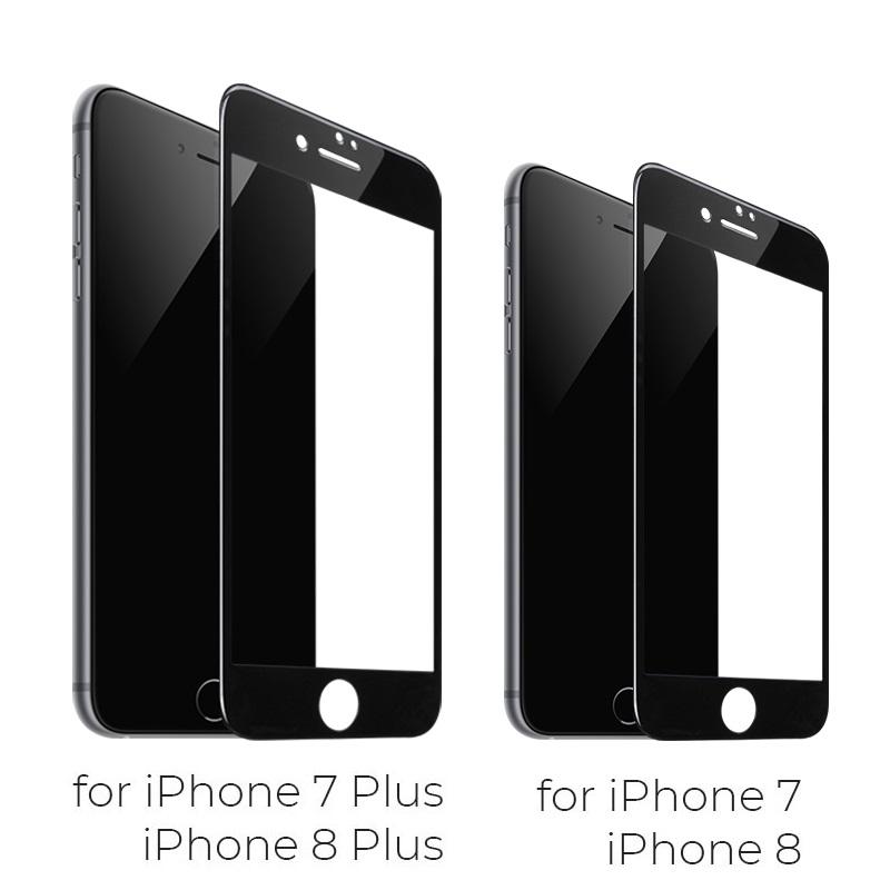 shatterproof edges full screen hd glass a1 iphone 7 8 plus phone model