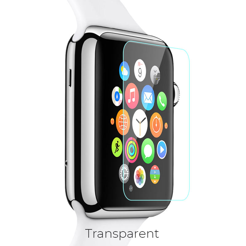 apple watch tempered glass transparent