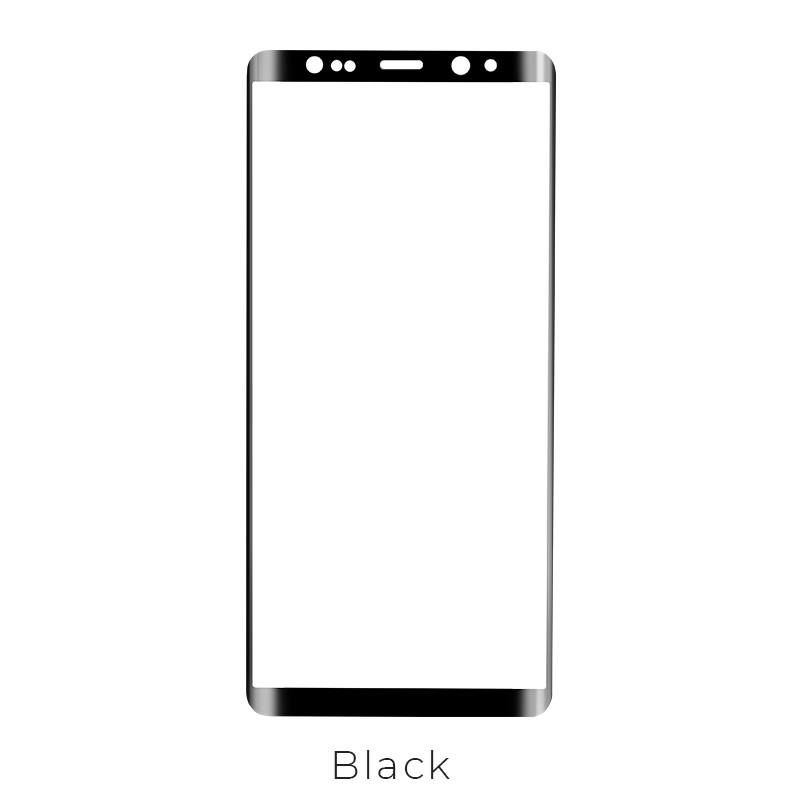 galaxy note 8 tempered glass black