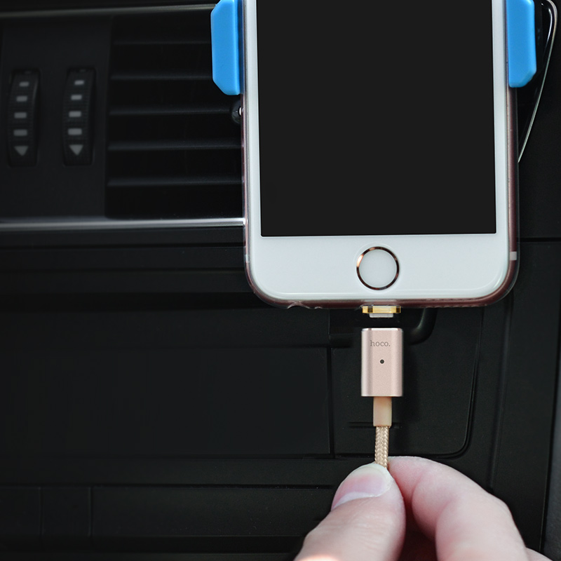 u16 magnetic adsorption lightning charging cable connection