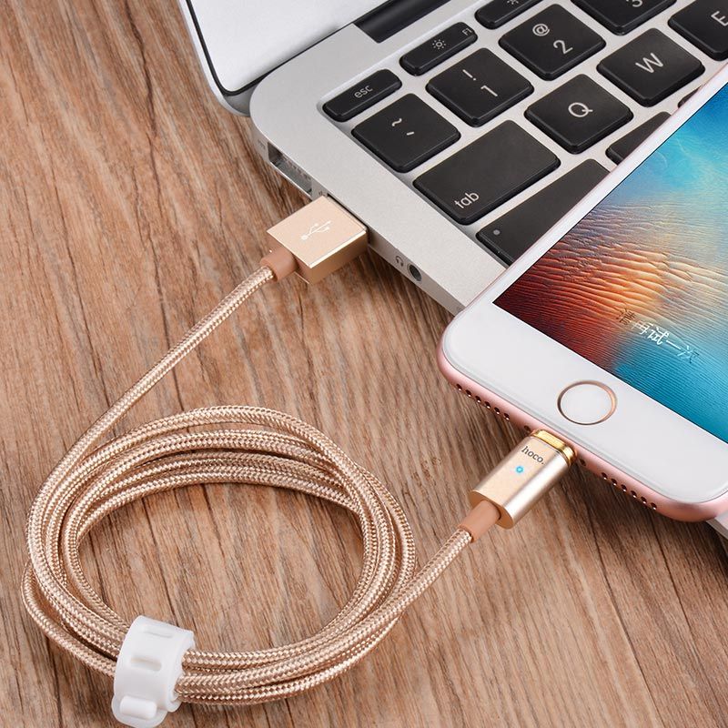 u16 magnetic adsorption lightning charging cable folded